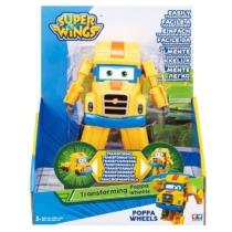 Super Wings Átalakuló játékrepülő Poppa Wheels 14 cm