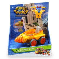 Super Wings Donnie's Driller munkagép átalakuló Donnie figurával