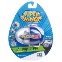 Super Wings Flip & Fly Paul játékrepülő kilövővel műanyag