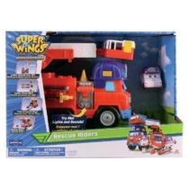 Super Wings Mission Teams Rescue Riders Tűzoltóautó játékszett hanggal és fénnyel, Zoey