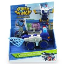 Super Wings Paul's Police Patroller rendőrautó átalakuló Paul figurával