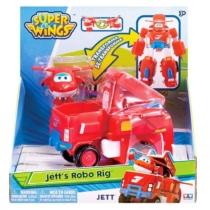 Super Wings robottá alakítható jármű és repülő játékfigura, Jett