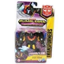 Transformers Bumblebee Fusion Flame Hot Rod átalakítható játékfigura