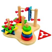 Ügyességi készségfejlesztő 3D gyerek játék 12 db-os Woody
