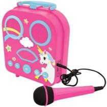 Unikornisos Hordozható karaoke mikrofonnal
