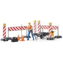 Útépítkező játék készlet figurával és kiegészítőkkel műanyag Bruder