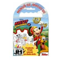 Úti színező + 6 zsírkréta Mickey (72 lap)