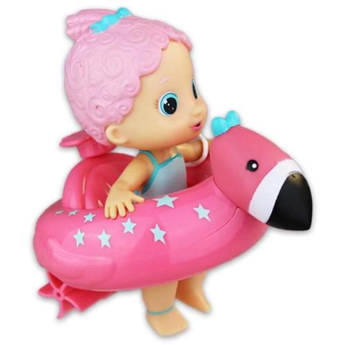 Bloopies felhúzható strandbébi rózsaszín haj, rózsaszín úszógumi