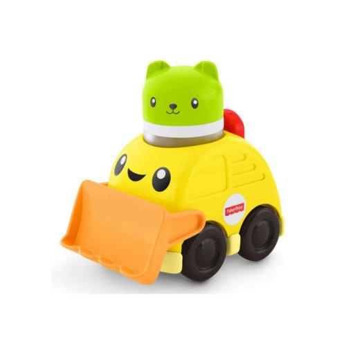 Csörgős jármű sárga markoló Fisher-Price