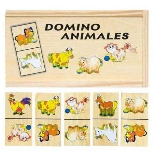 Domino háziállatos 28 db-os fa Woody