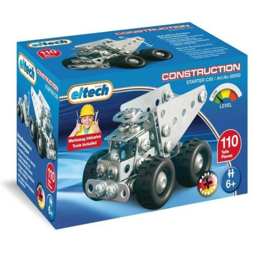 Dömper mini építőjáték 110 db-os szerszámokkal fém Eitech