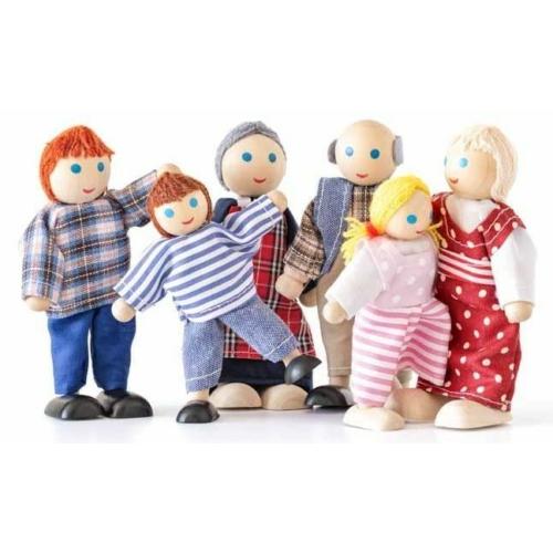 Fa játékfigura család 6 db-os Woody