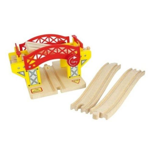 Fa vonatpálya játékszett felnyitható híd 3 db-os Bigjigs