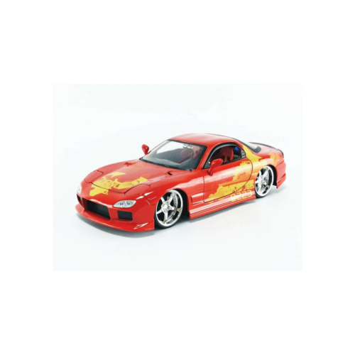 Fast & Furious fém autó Mazda RX-7 narancs JLS 1:24