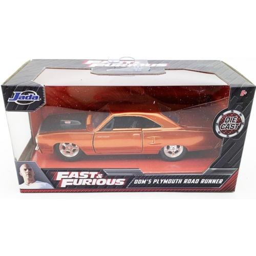 Fast & Furious fém kisautó Plymouth Road Runner Dom