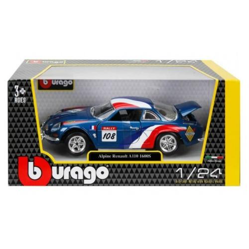 Fém autó Alpine Renault A110 1600S kék-fehér-piros 1:24