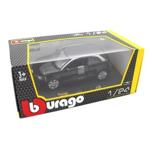 Fém autó Audi A1 fekete 1:24 Bburago