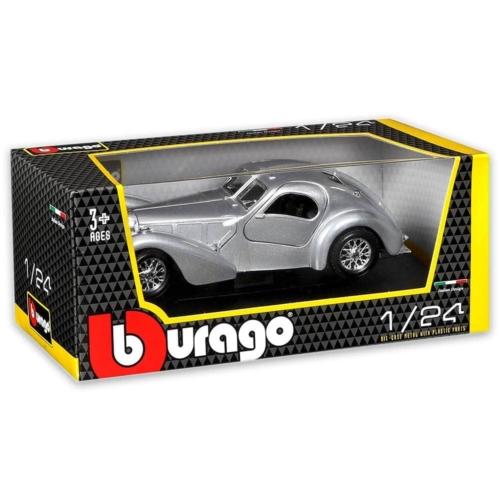 Fém autó Bugatti Atlantic ezüst 1:24