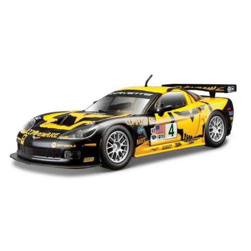 Fém autó Chevrolet Corvette C6R sárga-fekete 1:24