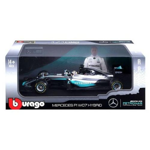Fém autó F1 Mercedes W07 Hybrid Lewis Hamilton 1:18 Bburago