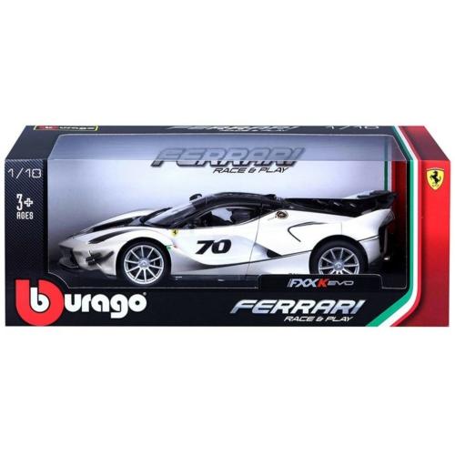 Fém autó Ferrari FXX K EVO fehér 1:18
