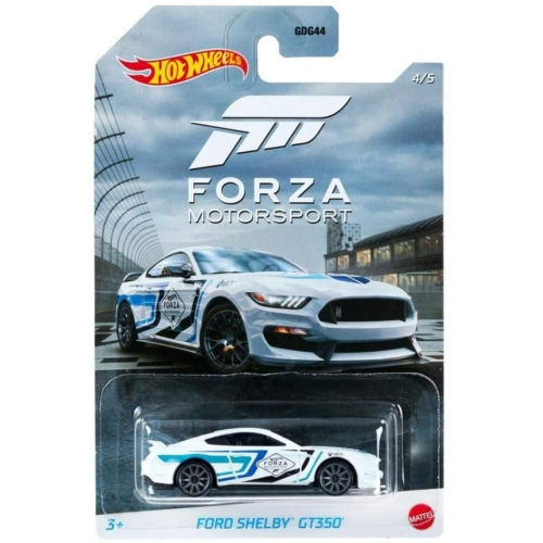 Fém autó Ford Shelby GT350 fehér Forza Motorsport Hot Wheels