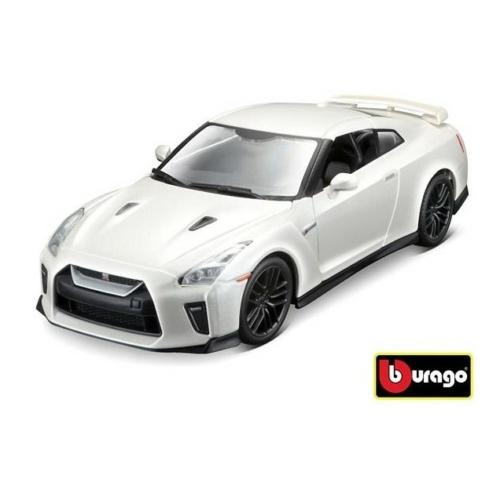 Fém autó Nissan GTR 2017 fehér 1:24