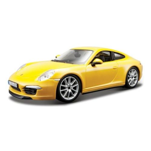 Fém autó Porsche 911 Carrera S sárga 1:24