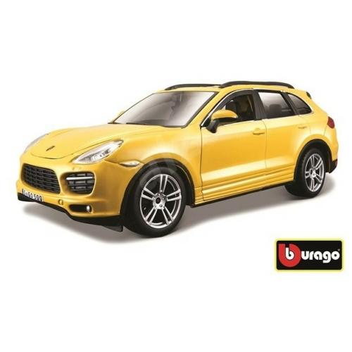 Fém autó Porsche Cayenne Turbo sárga 1:24