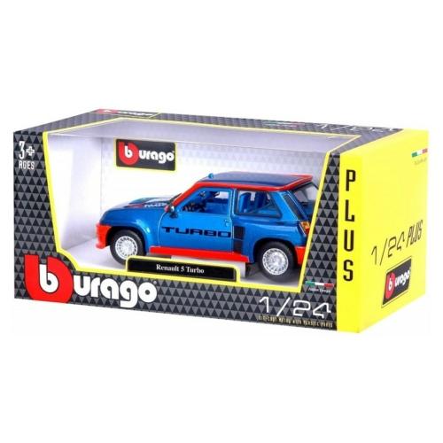 Fém autó Renault 5 Turbo kék-piros 1:24 Bburago