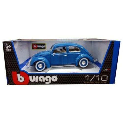Fém autó VW Beetle Kafer 1955 kék 1:18