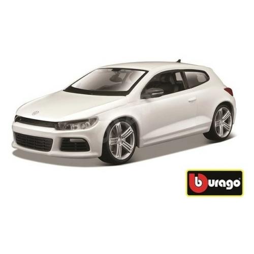 Fém autó VW Scirocco R fehér 1:24 Bburago