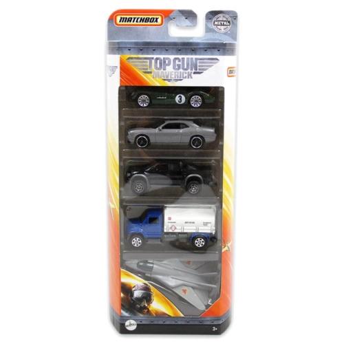 Fém kisautó Matchbox készlet 5 db-os (Top Gun Maverick)