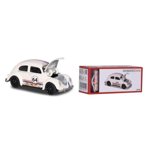 Majorette Fém kisautó VW Beetle Racing fehér