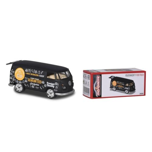 Fém kisautó VW T1 Foodtruck fekete