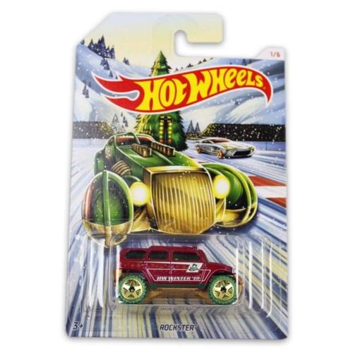 Fém kisautó bordó Rockster Hot Wheels