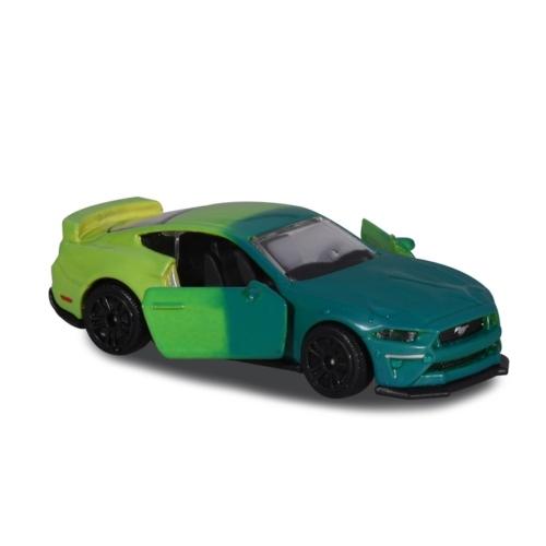 Fém kisautó színváltós Ford Mustang GT világoszöld és sötétzöld