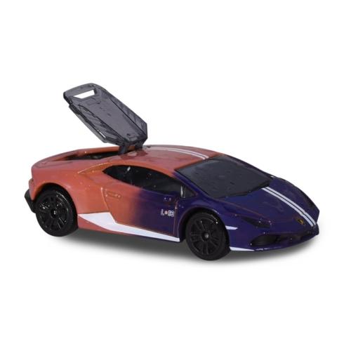 Fém kisautó színváltós Lamborghini Huracan Avio barna és lila
