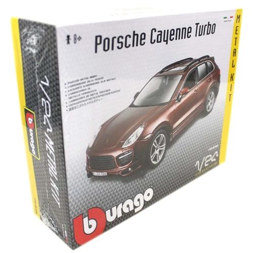 Fém makett autó Porsche Cayenne Turbo Metal KIT barna 1:24 Bburago