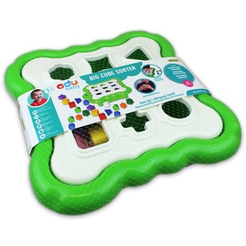 Formarendező színes alakzatokkal zöld dobozos