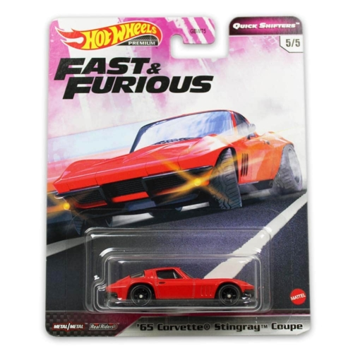 "Hot Wheels Fast&Furious fém kisautó ""65"" Corvette Stingray Coupe"