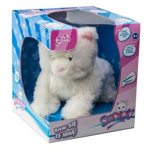 Interaktív plüss cica Snowy