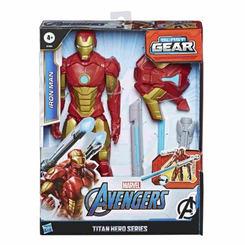 Iron man játékfigura Bosszúállók Avengers Titan Hero Blast Gear kiegészítőkkel 30 cm