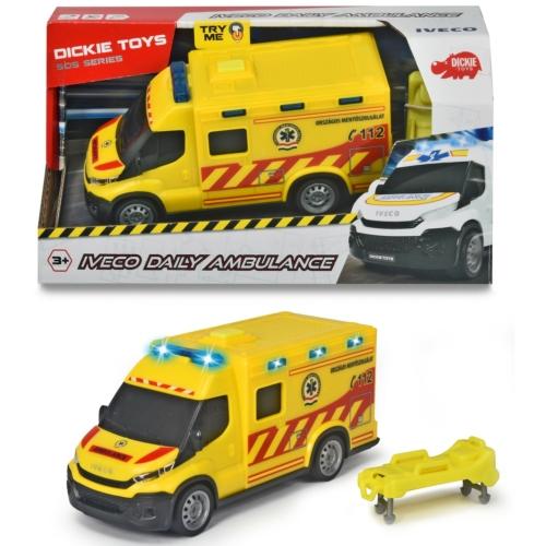Iveco mentőautó villogóval hordággyal műanyag