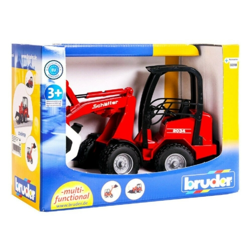 Játékautó Mini markoló Schaffer műanyag Bruder 1:16