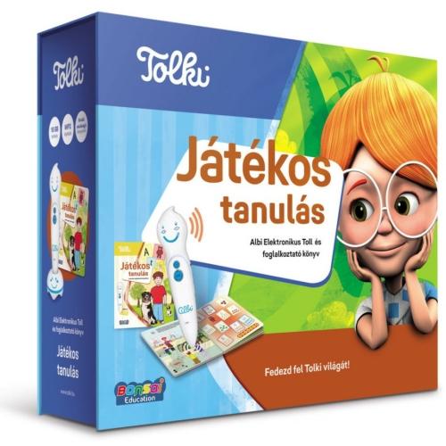 Játékos tanulás Elektronikus Toll és foglalkoztató könyv Tolki