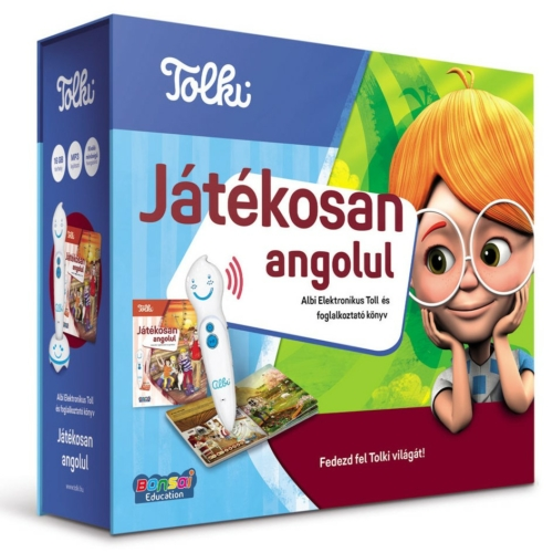 Játékosan angolul Elektronikus Toll és foglalkoztató könyv Tolki