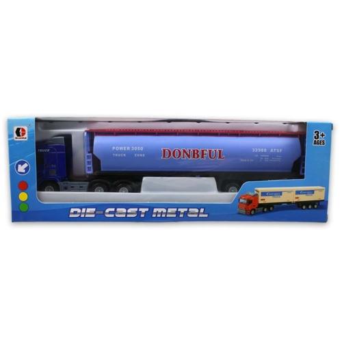 Kamion fém kék üzemanyagtartállyal 1:48