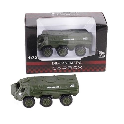 Katonai jármű terep színű fém gyalogsági szállító 1:72