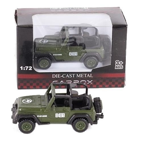 Katonai jármű terep színű fém terepjáró 1:72